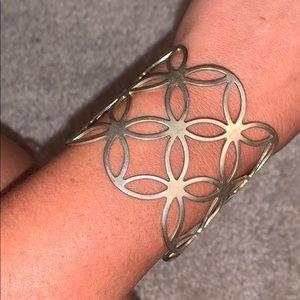 Gold cuffed bracelet